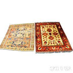 Antique Soumak Rug and an Afghan Rug