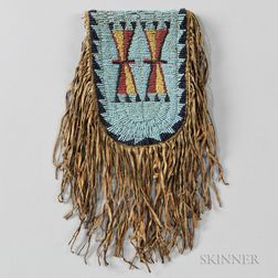 Cheyenne Beaded Buffalo Hide Belt Pouch