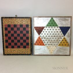Two Polychrome Painted Game Boards