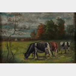 American School, 20th Century      Cows in a Field