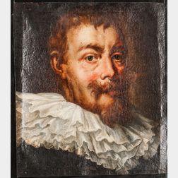 Dutch School, 17th Century Style      Fair-haired Man in a Ruff Collar.