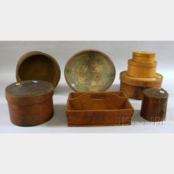 Eight Assorted Wooden Items