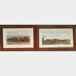 Two Hand-colored Horseracing Engravings