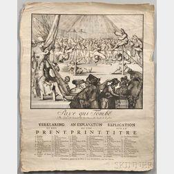 de Hooghe, Romeyn (1645-1708) Paye qui Tombe: Die eerst valt betaelt de Speelman, die laest, de Kosten.