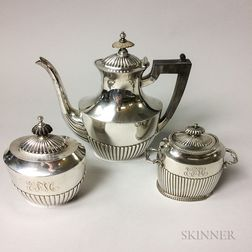 Three-piece Assembled Sterling Silver Tea Set