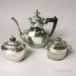 Three-piece Assembled Sterling Silver Tea Set