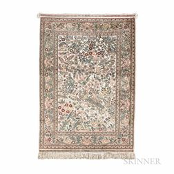 Persian-style Silk Rug