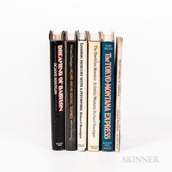 Six First Edition Works by Richard Brautigan (1935-1984).