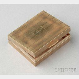 14kt Gold Compact, Cartier