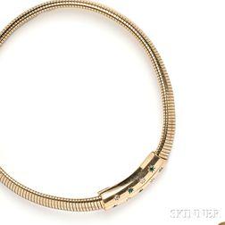 Retro 14kt Gold Necklace, Van Cleef & Arpels