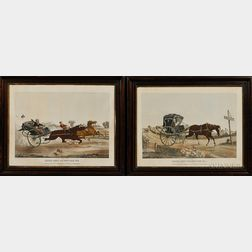 F.M. Haskell & Co., Lithographers (American, 19th Century)      Pair of Prints: Deacon Jones' One Hoss Shay. No. 1