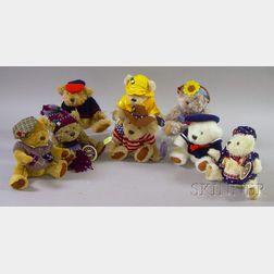 Eight Pickford Brass Button Bears