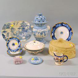 Twelve Varied English and European Ceramic Items