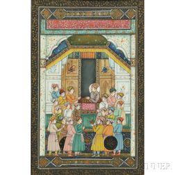 Miniature Painting of a Mughal Court
