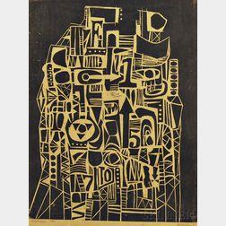 John DeMelim (American, 20th Century)      Cityscape