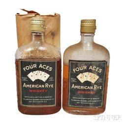 Four Aces American Rye Whiskey, 2 pint bottles