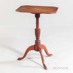 Federal Red-painted Candlestand