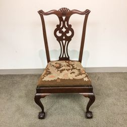 Mahogany Centennial Carved Chippendale Side Chair