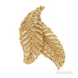 18kt Gold Clip Brooch, Boucheron