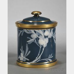 Mintons Alboin Birks Decorated Pate-sur-pate Covered Jar