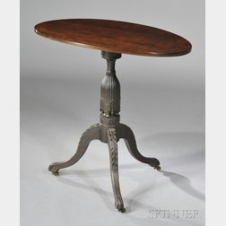 Classical Carved Cherry Tilt-top Table