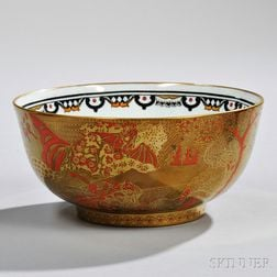 Wedgwood Fairyland Lustre Coral and Bronze Imperial Bowl