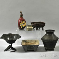 Six Metalware Vessels