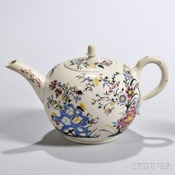 White Salt-glazed Stoneware Teapot and Cover