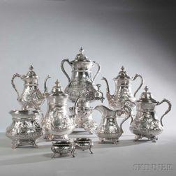 Nine-piece Coin Silver Tea and Coffee Service