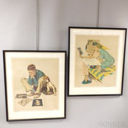 Norman Rockwell (American, 1894-1978)      Three Artist-proof Color Lithographs: Dreamboats ,  Star Struck