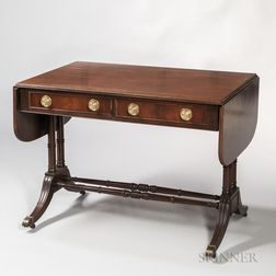 Regency-style Mahogany and Mahogany-veneered Sofa Table