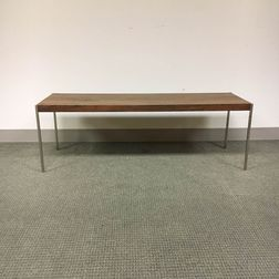Rosewood Veneer and Chrome Coffee Table