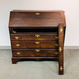 Chippendale Stained Maple Slant-lid Desk