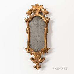 Rococo Carved and Giltwood and Gesso Mirror