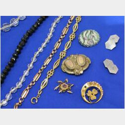 Seven 14kt Gold Victorian Jewelry Items