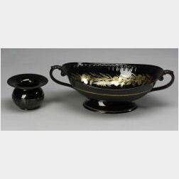 Two Wedgwood Black Glazed Items