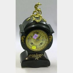 New Haven Clock Co. Iron Cased Mantel Clock