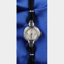Lady's Platinum and Diamond Wristwatch, Rolex