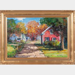 Kent Wallis (American, b. 1945)      Cottages