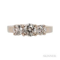 14kt White Gold and Diamond Three-stone Ring