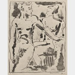 Werner Drewes (American/German, 1899-1985)      Lot of Two Prints: Our Farm (The Catskills)