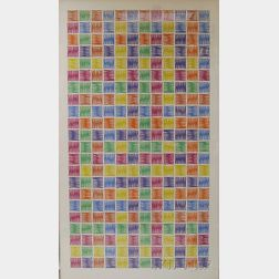 Mario Yrisarry (American, b. 1933)      Untitled Colorful Grid Abstract.