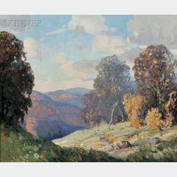 Walter Koeniger (American, 1881-1943)      Autumn in the Hills Near Woodstock