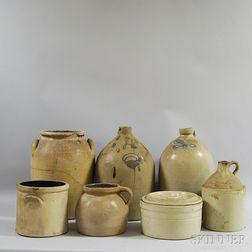 Seven Stoneware Vessels