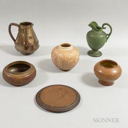 Five Art Pottery Items