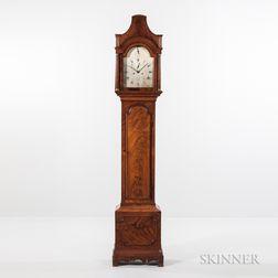 19th Century Figured Mahogany London Longcase Clock