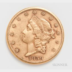 1859-S $20 Liberty Head Gold Coin