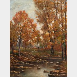 Giuseppe D'Andrea (Italian, b. 1928)      Autumn in Pennsylvania