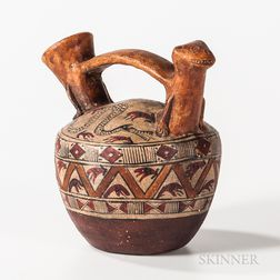 Pre-Columbian Stirrup Pottery Vessel