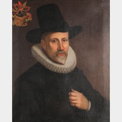 Manner of Willem van der Vliet (Dutch, c. 1584-1642)      Man in a Ruff Collar and Tall Hat